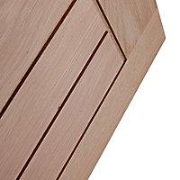Cottage Oak veneer LH & RH Internal Door, (H)1981mm (W)686mm (T)35mm