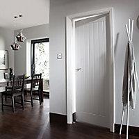 Cottage White Woodgrain effect LH & RH Internal Door, (H)1981mm (W)686mm (T)35mm