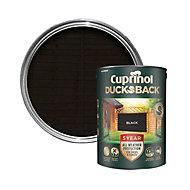 Cuprinol 5 year ducksback Black Matt Fence & shed Treatment 5L