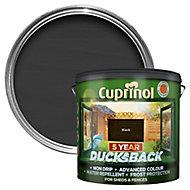 Cuprinol 5 year ducksback Black Matt Fence & shed Treatment 9L