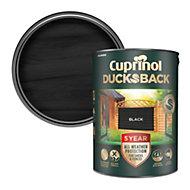 Cuprinol 5 year ducksback Black Matt Fence & shed Wood treatment 5L