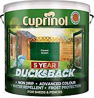 Cuprinol 5 year ducksback Forest green Fence & shed Wood treatment, 9L