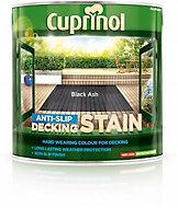 Cuprinol Black ash Matt Decking Wood stain, 2.5