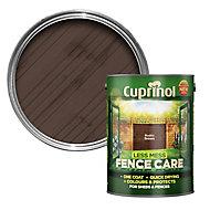 Cuprinol Less mess fence care Rustic brown Matt Wood paint, 5L