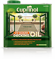Cuprinol UV guard Natural oak Matt DeckingUV resistant Wood oil, 2.5L