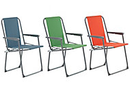 Curacao Assorted Metal Foldable Picnic Chair