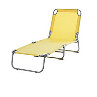 Curacao Cream gold Metal Sun lounger