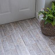 D-C-Fix Floor covering Grey Rustic Oak Wood effect Self adhesive Tiles, Pack of 11