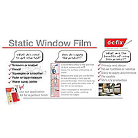 D-C-Fix Frosted effect Film (L)1.5m (W)900mm
