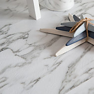D-C-Fix Grey & white Marble effect Self adhesive Vinyl tile, Pack of 11