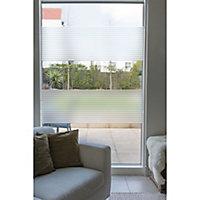 D-C-Fix Striped Matt Clear & white Film (L)1.5m (W)675mm