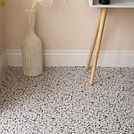 D-C-Fix Terrazzo White Patterned Stone effect Self adhesive Tiles, Pack of 11