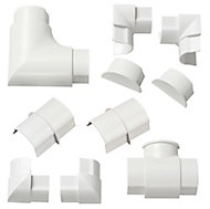 D-Line White 10 Piece Trunking kit, (W)40mm