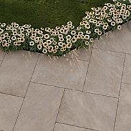 Dakota Beige Matt Stone effect Porcelain Outdoor Tile, Pack of 2, (L)900mm (W)600mm