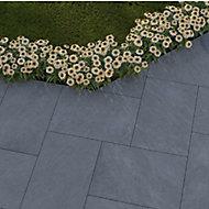Dakota Grey Matt Stone effect Porcelain Outdoor Tile, Pack of 2, (L)900mm (W)600mm