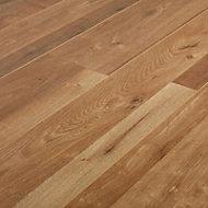 Dawlish Natural Oak effect High-density fibreboard (HDF) Laminate Flooring Sample