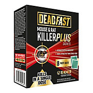 Deadfast Rodents Rodenticide, Pack of 8