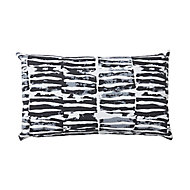 Denia Broken line Black & white Cushion