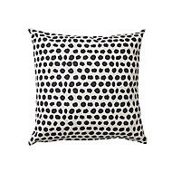 Denia Spotted Black & off white Cushion