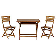 Denia Wooden 2 seater Table & chair set
