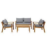 Denia Wooden 4 seater Coffee set