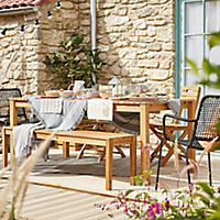 Denia Wooden 6 seater Dining set with Standard chairs
