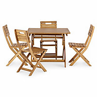 Denia Wooden Foldable Chair, Pack of 2