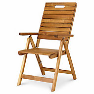 Denia Wooden Recliner Chair