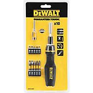 DeWalt 11 Piece Full fit telescopic ratcheting multi-bit screwdriver set Set