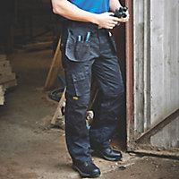 """DeWalt Pro Tradesman Black Trousers, W34"""" L31"""""""