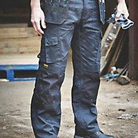 """DeWalt Pro Tradesman Black Trousers, W34"""" L33"""""""