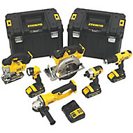DeWalt Titan 18V 3Ah Li-ion Cordless 6 piece Power tool kit DCK677L3T-GB