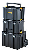"""DeWalt TSTAK 17"""" Polycarbonate 3 compartment Tool chest bundle"""