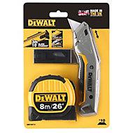 DeWalt Utility knife & Tape measure, 8m