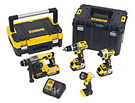 DeWalt XR 18V 4Ah Li-ion Cordless 4 piece Power tool kit DCK456M3T-GB