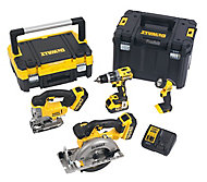 DeWalt XR 18V 4Ah Li-ion Cordless 4 piece Power tool kit DCK457M3T-GB