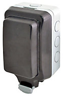 Diall 13A Grey Outdoor Unswitched Unswitched socket