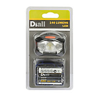 Diall 140lm LED Head light