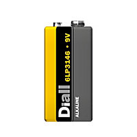 Diall Alkaline batteries Non-rechargeable 9V Battery