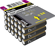 Diall Alkaline batteries Non-rechargeable AAA Battery, Pack of 24