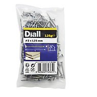 Diall Annular ring nail (L)25mm (Dia)2mm 125g, Pack