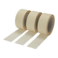 Diall Beige Masking Tape (L)50m (W)48mm, Pack of 3