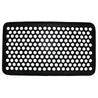 Diall Black Door mat (L)0.7m (W)0.4m