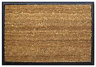 Diall Black & natural Coir Door mat (L)450mm (W)650mm