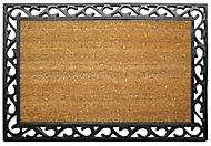 Diall Black & natural Coir Door mat (L)900mm (W)600mm