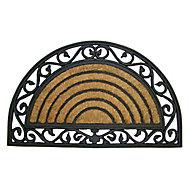 Diall Black & natural Door mat (L)0.75m (W)0.45m