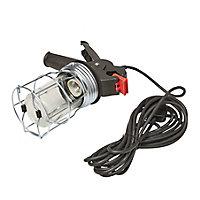 Diall Black & red Inspection light 60W 220-240V