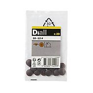 Diall Brown Screw cap, Pack of 20
