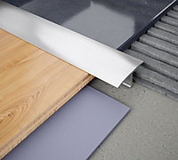 "Diall Chrome Aluminium ""T"" shape Tiling trim, 8mm"