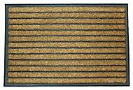 Diall Dominator Maxi Black & natural Door mat (L)0.9m (W)0.6m